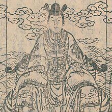 220px-Chinsetsu_Yumiharizuki_28-6_the_enthronement_of_Sutemaru_Cropped